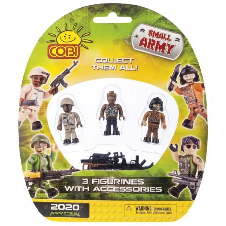 3 figurky na blistru Small Army