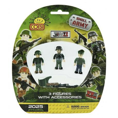 II WW 3 figurky na blistru Small Army