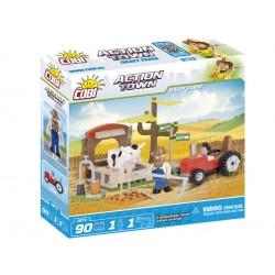 ACTION TOWN Farma traktor a kráva 90 k, 2 f