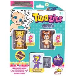 TWOZIES Sada kamarádi (3 miminka, 3 zvířátka, sběratelský průvodce)