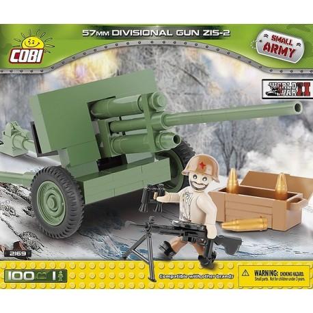 II WW ZiS-2 divizní kanón 50 mm, 100 k, 1 f