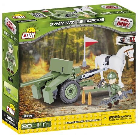 II WW 37 mm Bofors vzor 36, 80 k, 2 f