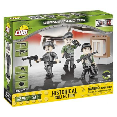3 figurky s doplňky Německá armáda, 25 k