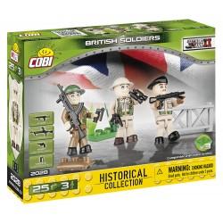 3 figurky s doplňky Britská armáda, 25 k