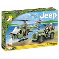 JEEP Willys MB s vrtulníkem 250 k, 3 f