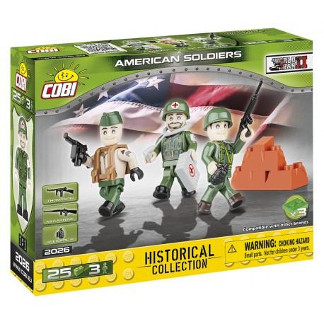 3 figurky s doplňky Americká armáda, 25 k