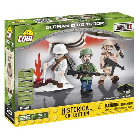 3 figurky s doplňky Německé elitní jednotky, 26 k