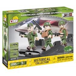 3 figurky s doplňky Americká letecká divize, 26 k
