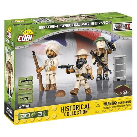 3 figurky s doplňky British Special Air Service SAS, 30 k