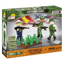 3 figurky s doplňky Vietnamská válka, 30 k
