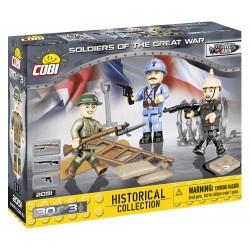 3 figurky s doplňky 1. světová válka, 30 k