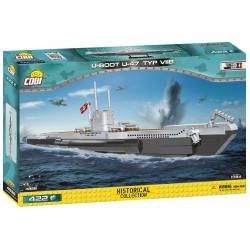 II WW Ponorka U-Boot U-47 (typ VII B), 1:144, 422 k